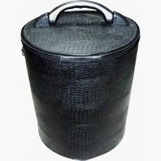 Клобучница жёсткая (кожа натуральная), цвет чёрный (h-54cм, d-28см)