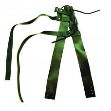 Крепление для охотничьих лыж из натуральной кожи (носковой и пяточный ремень).